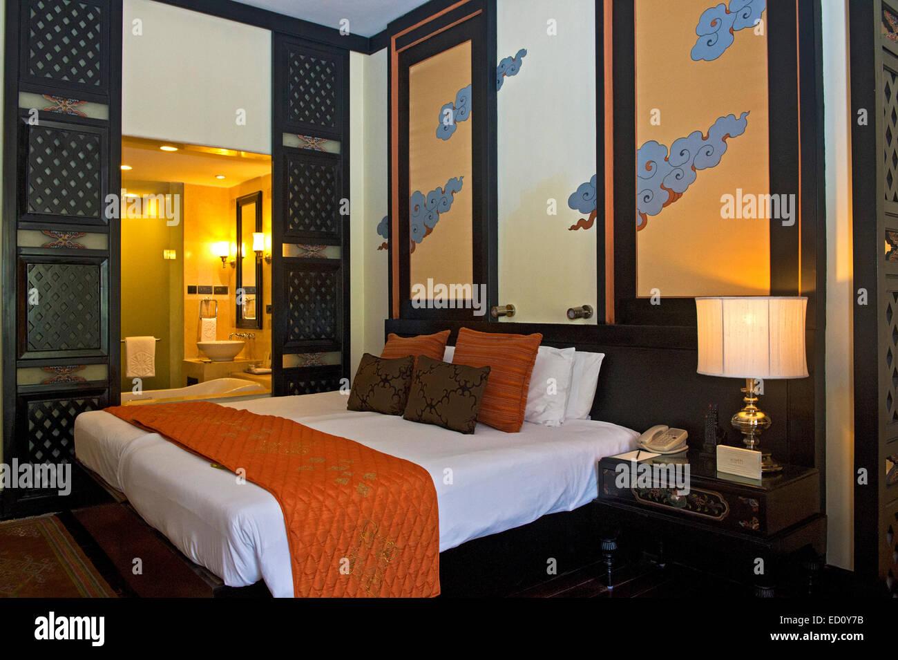 Camera al Taj Tashi hotel, thimphu bhutan Immagini Stock
