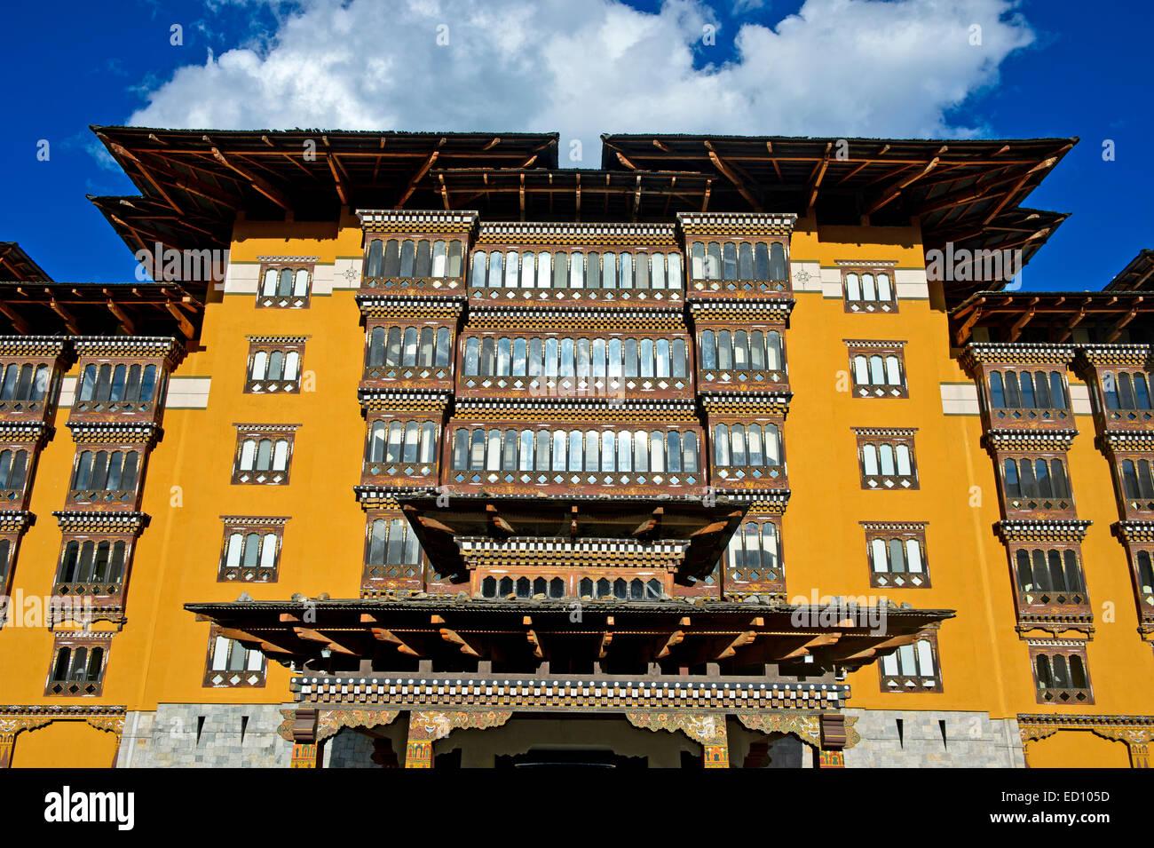 Il Taj Tashi Hotel, Thimphu Bhutan Immagini Stock