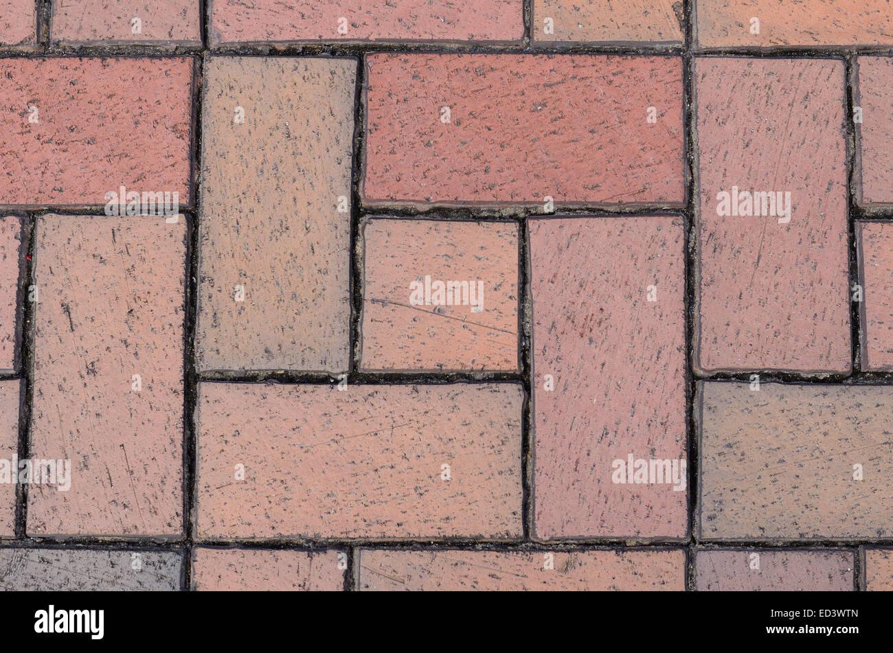 Muro di mattoni perfetta illustrazione vettoriale sfondo - texture pattern per la replica continua Immagini Stock