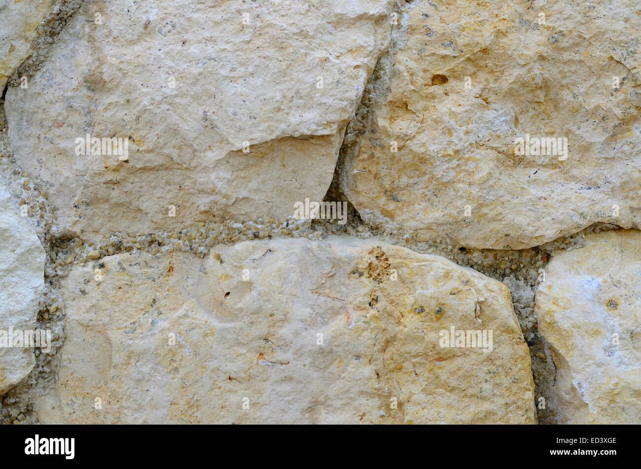 Muro di pietra perfetta illustrazione vettoriale sfondo - texture pattern per la replica continua Immagini Stock