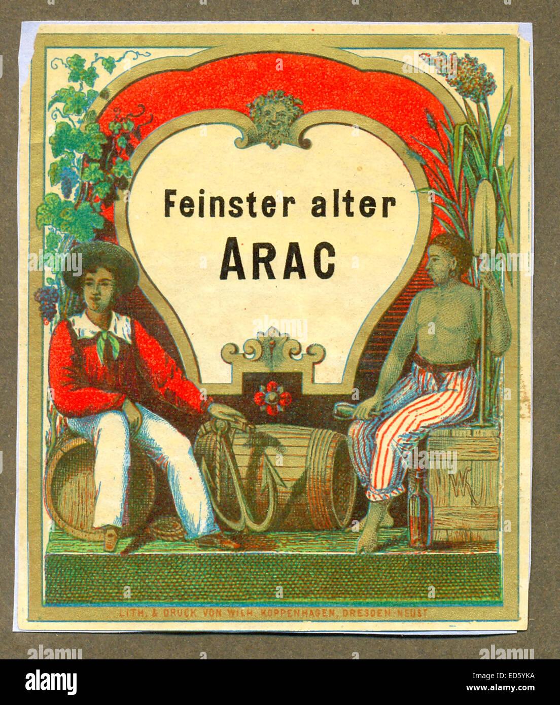 Etichetta per Arac Foto Stock