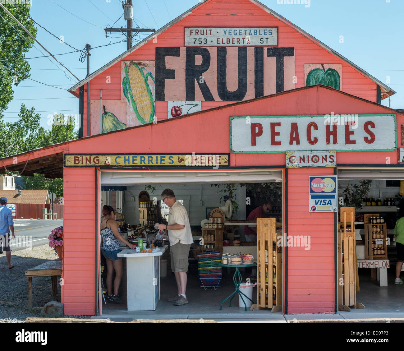 Herman frutta e verdura shop. Palizzata. Nuovo Messico. Stati Uniti d'America Immagini Stock