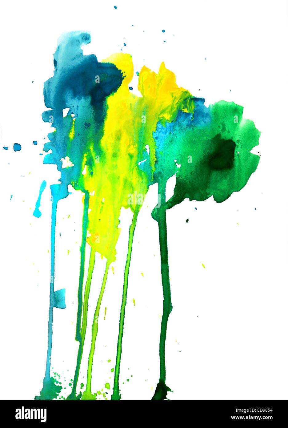 Abstract composizione di vernice Immagini Stock