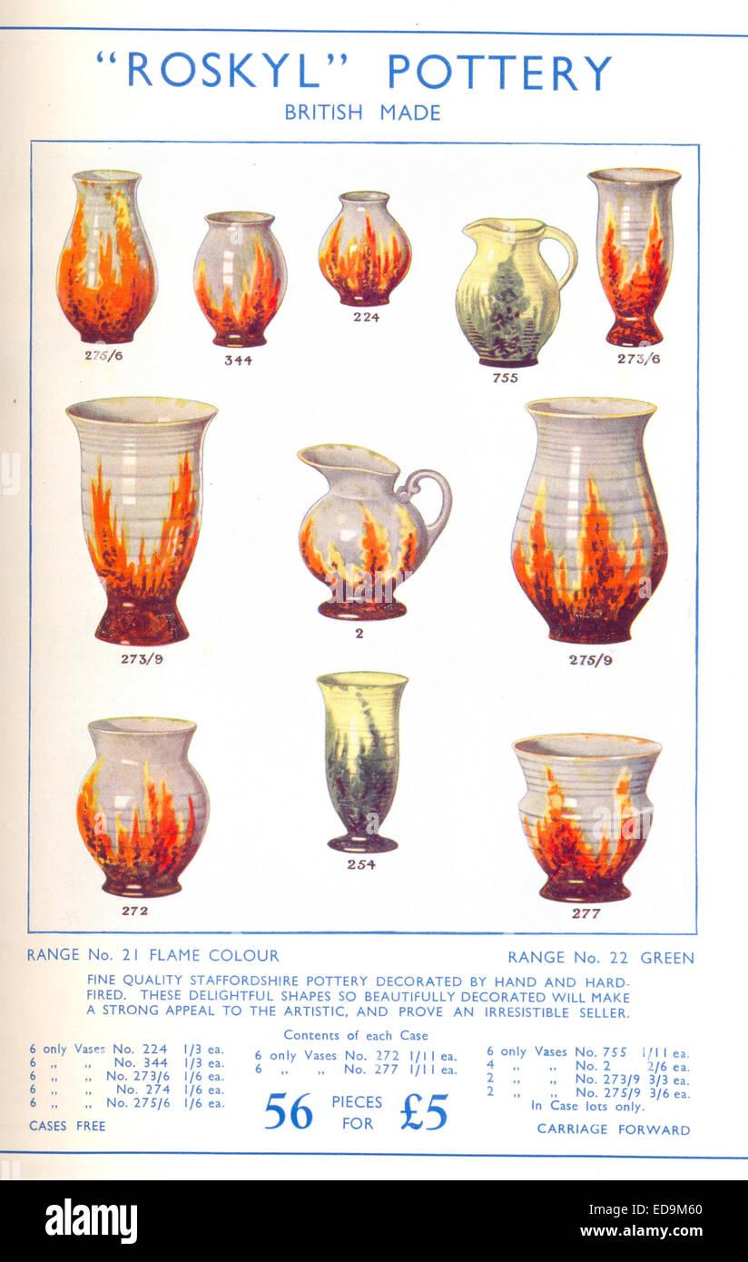 Pubblicità per 'Roskyl' in ceramica Foto Stock