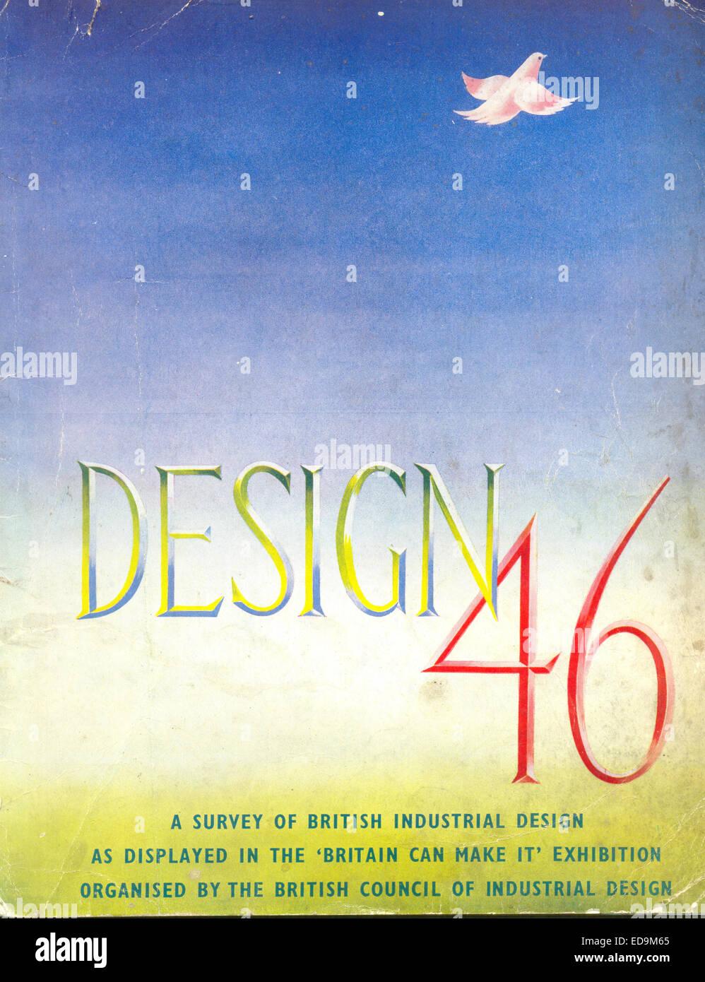 """Copertina del catalogo per il design '46, un sondaggio della British Design industriale come visualizzato in """"Gran Bretagna può renderlo' mostra organizzata dal Consiglio britannico di design industriale Foto Stock"""