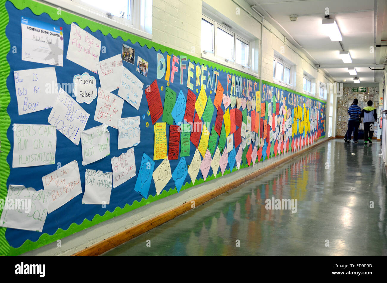 Londra scuola junior anti bullismo campagna Immagini Stock