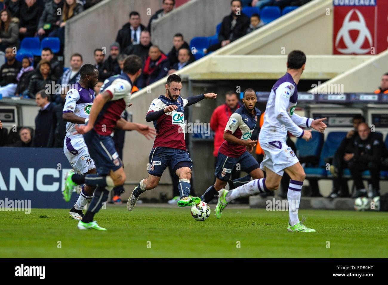 Bordeaux, Francia. 04 gen 2015. French League Cup Calcio. Bordeaux rispetto a Tolosa. Diego Contento (bordeaux) Immagini Stock