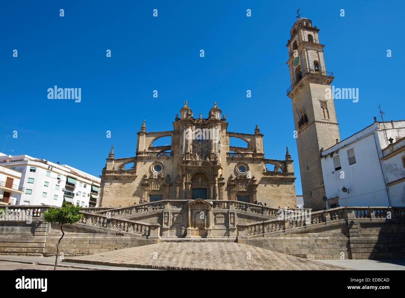Cattedrale la Colegiata del Salvador, Jerez de la Frontera, Andalusia, Spagna Foto Stock
