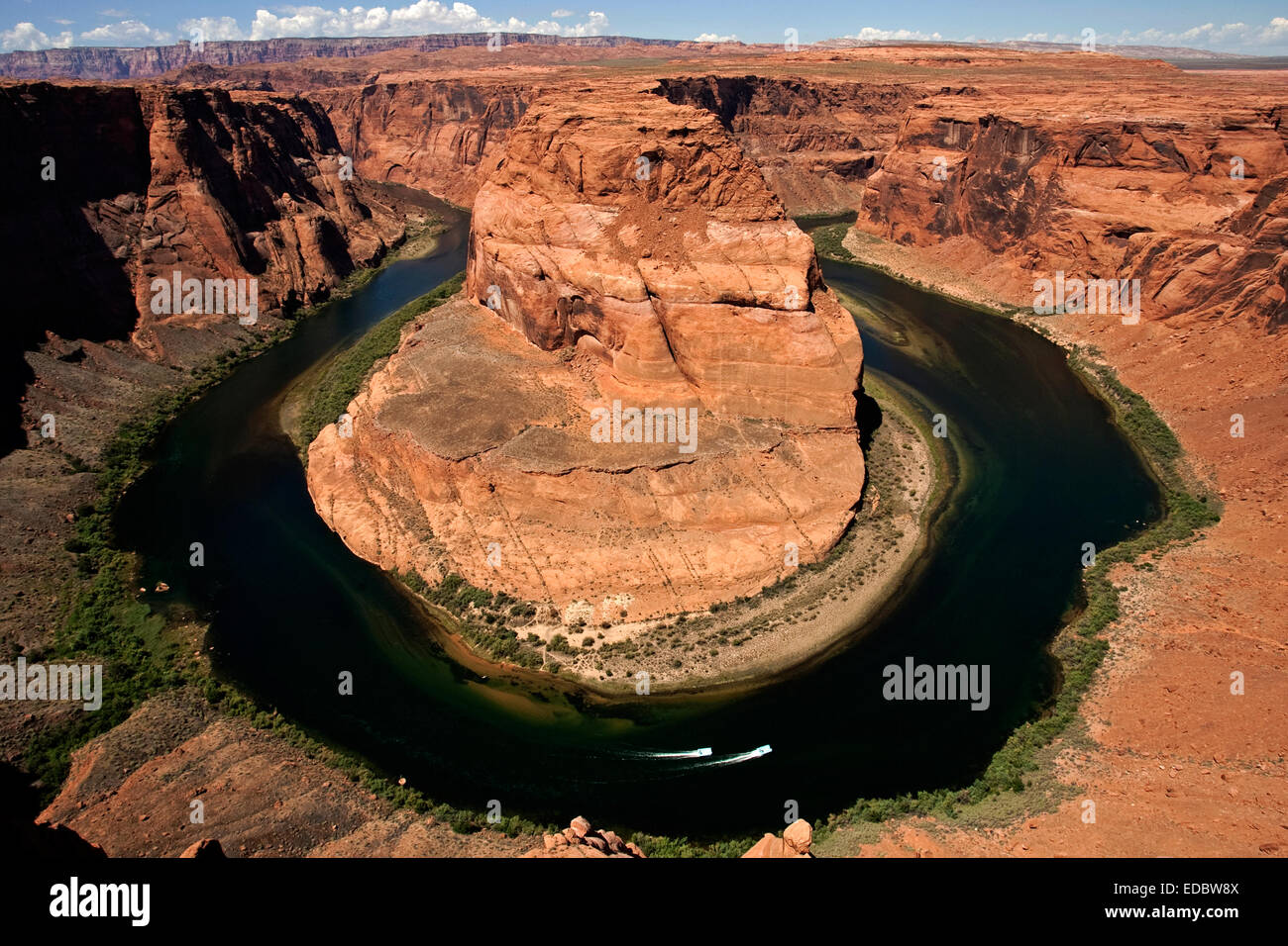 Curva a ferro di cavallo, Glen Canyon National Recreation Area, il Fiume Colorado, Arizona, Stati Uniti Immagini Stock
