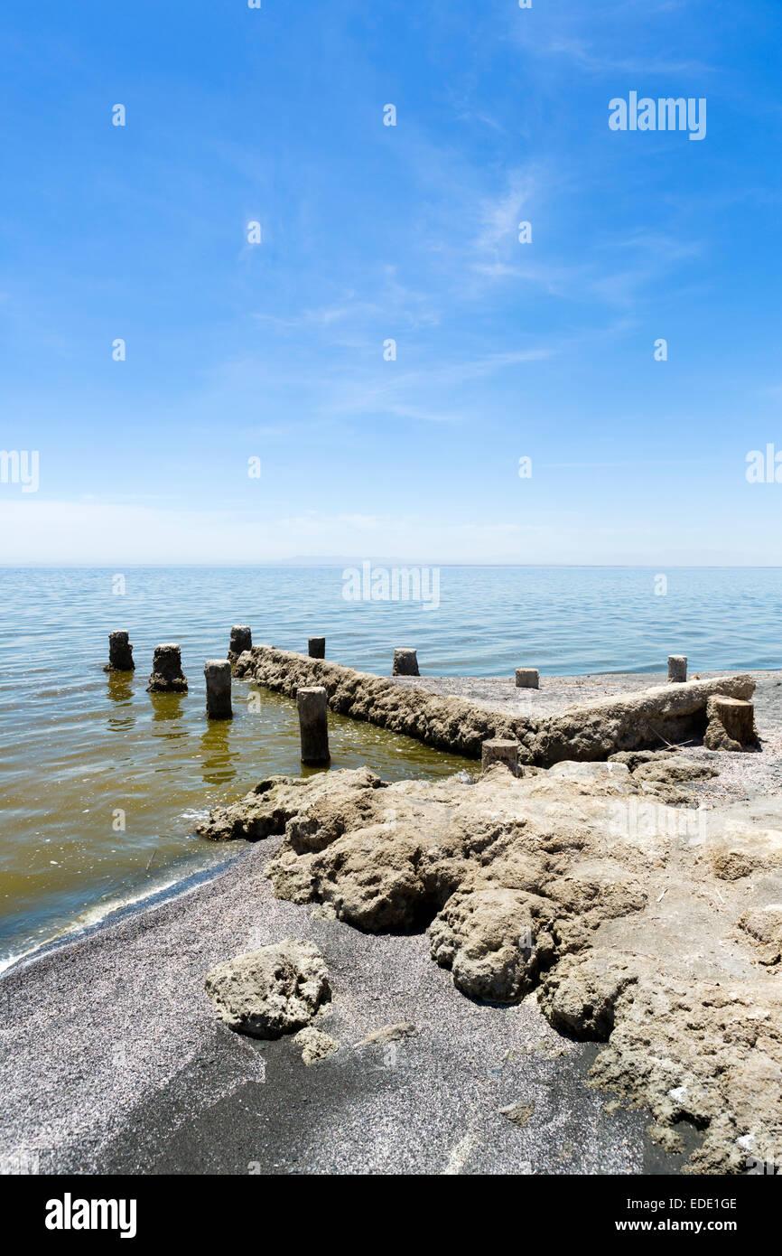 Salton Sea a Bombay Beach, Imperial County, California, Stati Uniti d'America Immagini Stock