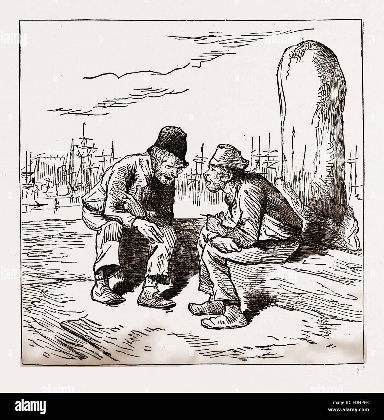 Un elettore intelligente, Stati Uniti d'America, America del XIX secolo l'incisione Immagini Stock