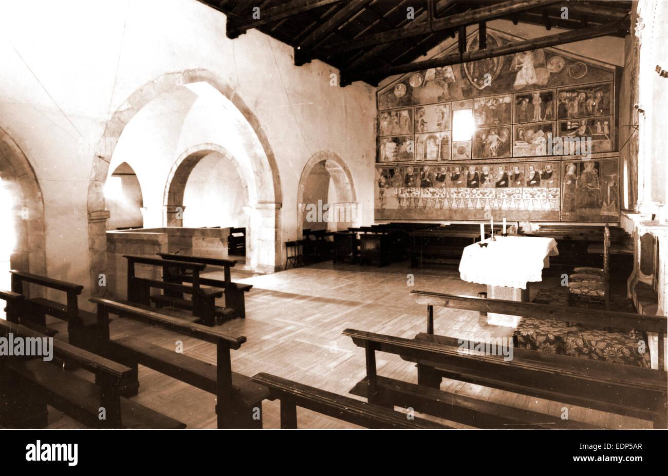Abruzzo, l'Aquila, Rocca di Cambio, S. Lucia, chiesa abbaziale, Italia, xx secolo, foto, fotografia, Europa Foto Stock