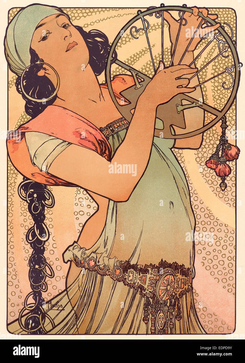 Alphonse Mucha (ceco, 1860 - 1939). Salomé, ca. 1897. Litografia a colori su carta intessuta Immagini Stock
