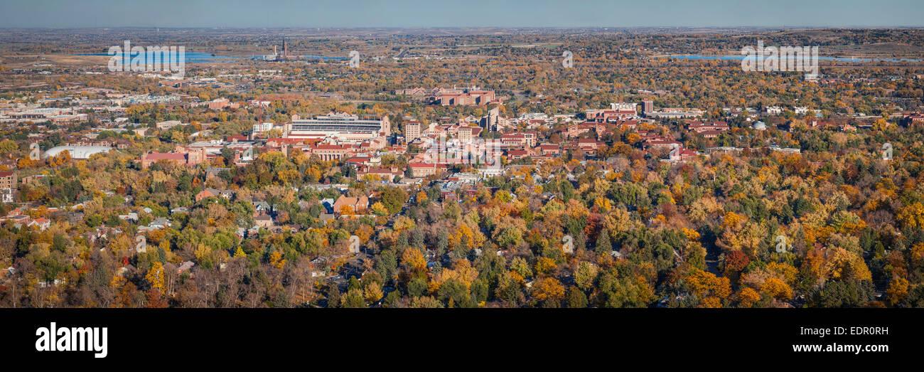 Panorama di CU Boulder. Immagini Stock