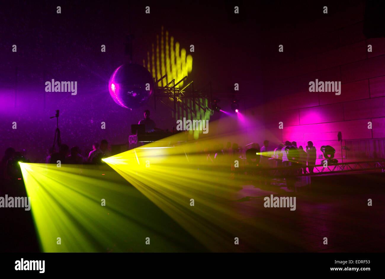 Discoteca luci, luci laser Immagini Stock
