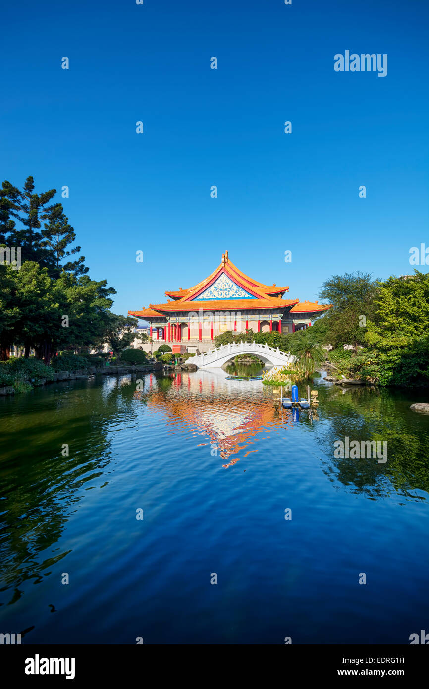 La National Concert Hall di Chiang Kai-shek Memorial Hall Square in Taiwan Immagini Stock