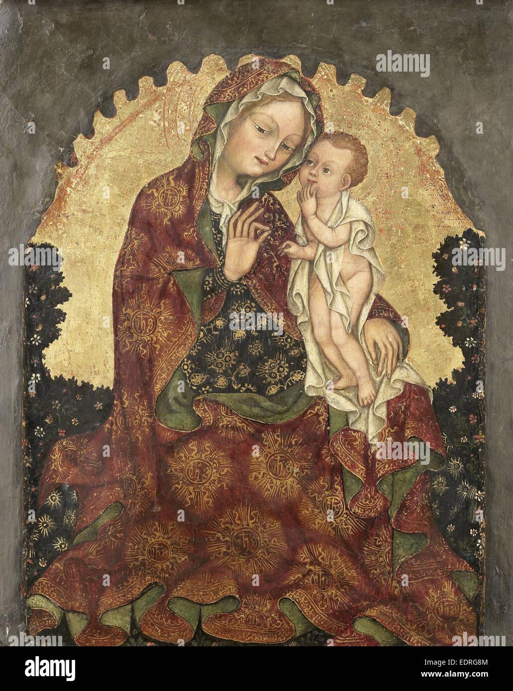 Madonna dell'Umiltà, attribuita a Giovanni da Francia, 1429 - 1439 Immagini Stock