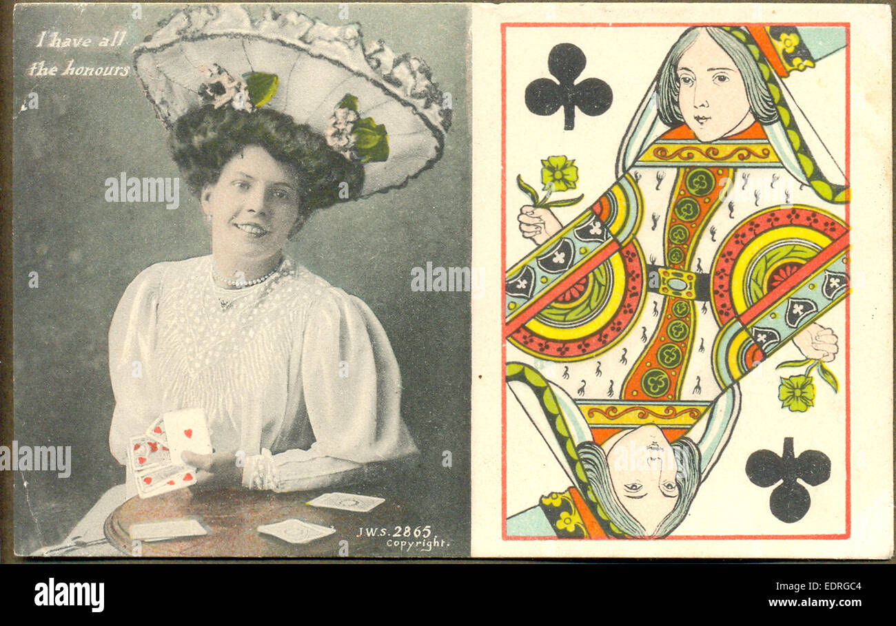 """Cartolina intitolato """" ho tutti gli onori' Foto Stock"""