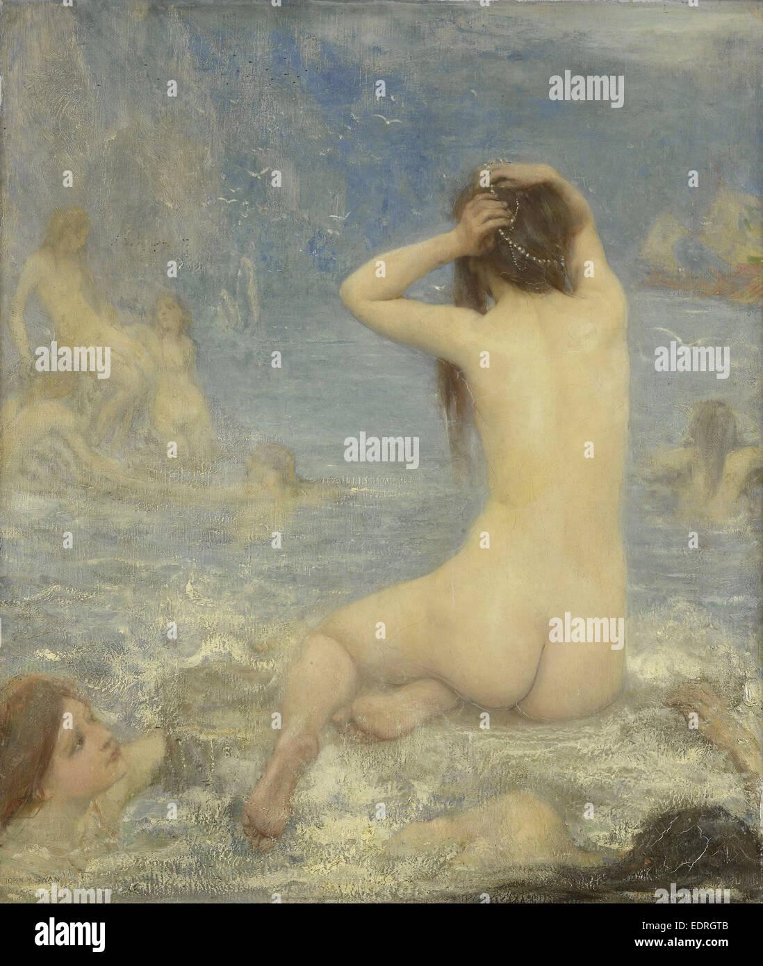 Le sirene, John Macallan Swan, 1870 - 1910 Immagini Stock