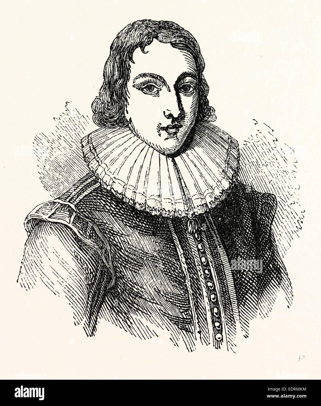Milton età 19, Londra, Inghilterra, incisione del XIX secolo, Gran Bretagna, Regno Unito Immagini Stock