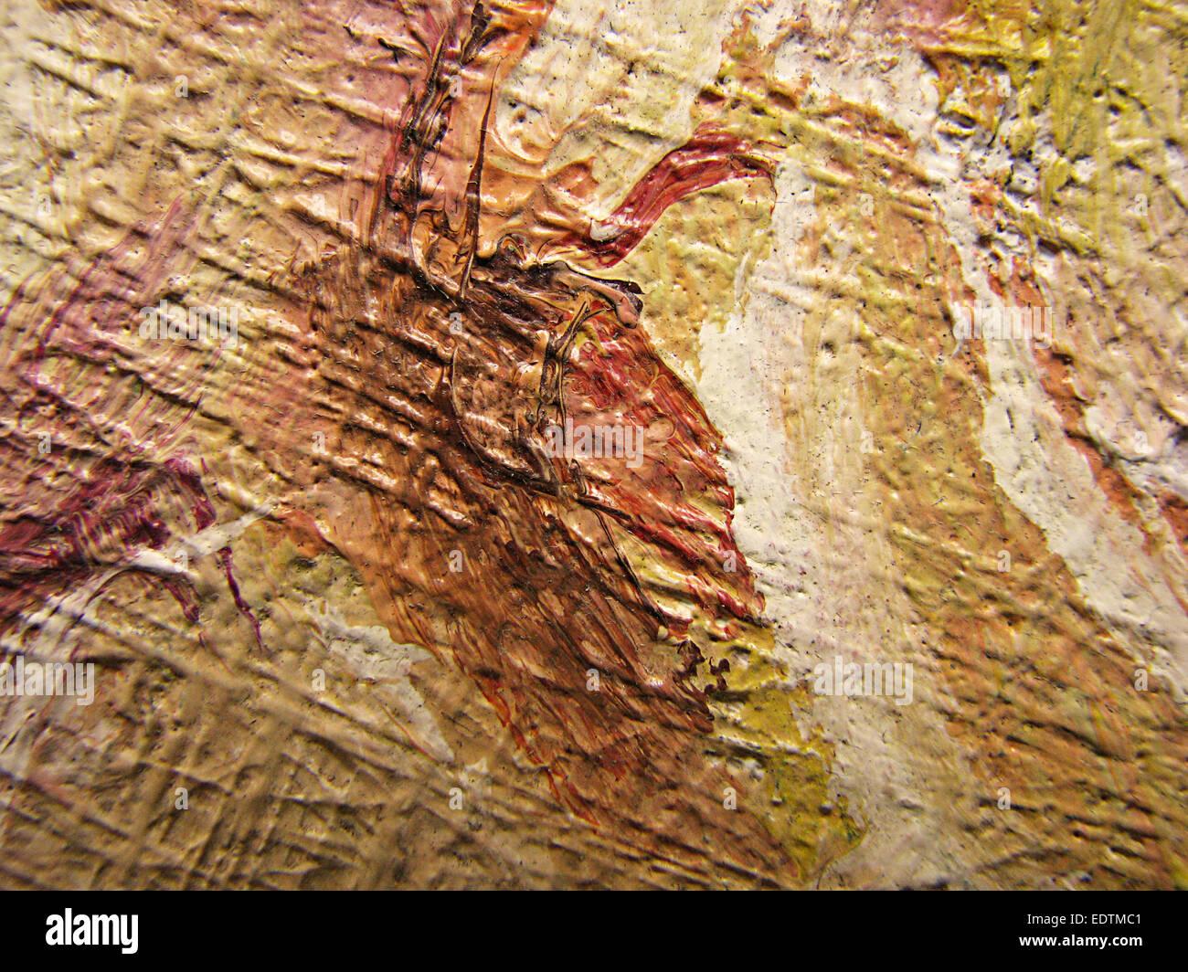 Pittura Di Olio su tela Immagini Stock