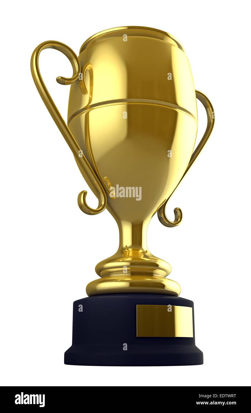 3D render di champion cup isolate su sfondo bianco Immagini Stock