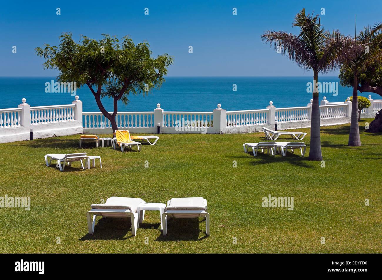 Parador de Turismo, spiaggia Burriana, Nerja, provincia di Malaga, regione dell'Andalusia, Spagna, Europa Immagini Stock