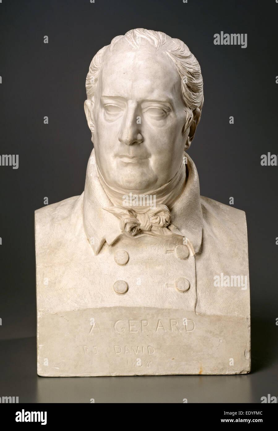 Pierre-Jean David d'Angers, François-Pascal-Simon, Baron Gérard, francese, 1788 - 1856, 1836-c. 1838, Immagini Stock