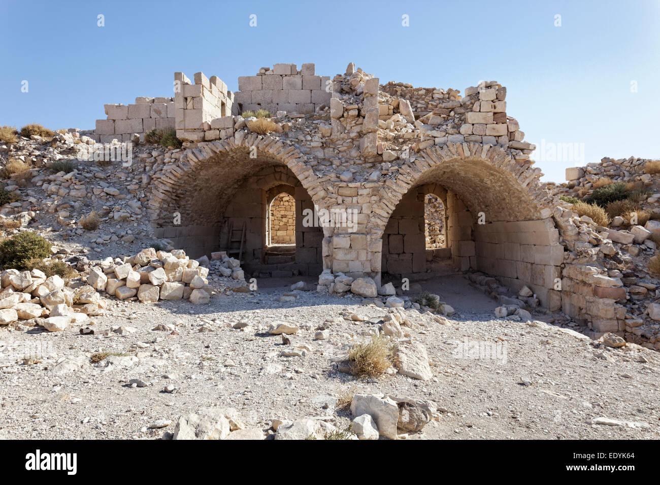Vault, Montreal il castello dei Crociati, anche Mons Regalis, Shoubak o Shawbak, fortezza, il castello di collina, Immagini Stock