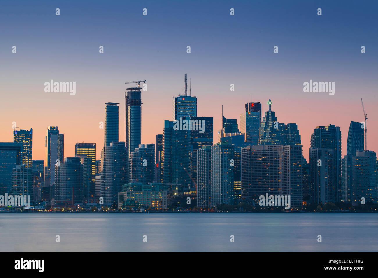 Vista dello skyline della città di Toronto, Ontario, Canada, America del Nord Immagini Stock