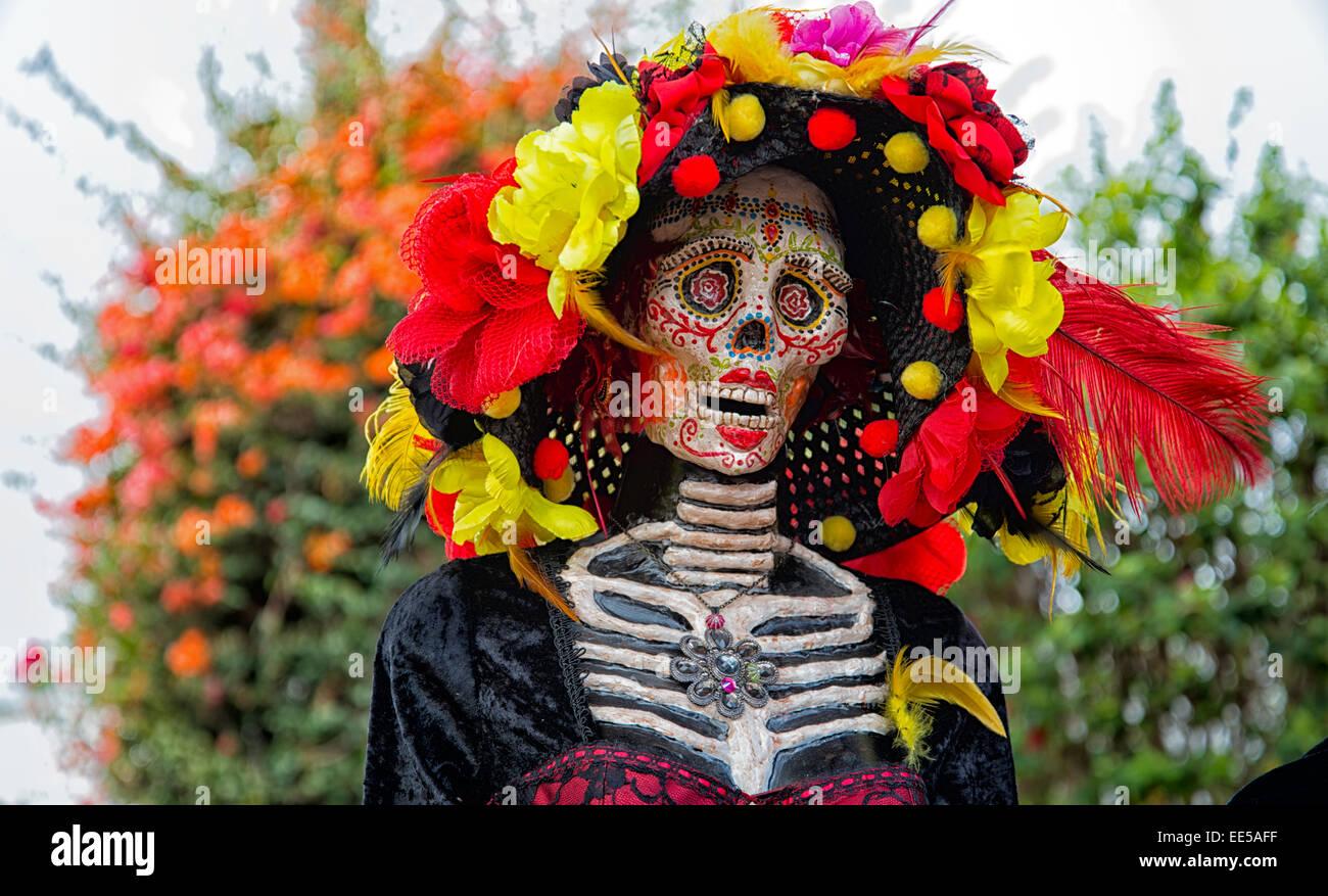 La Catrina, Dia de los Muertos, il giorno dei morti, centro storico, San Diego, California USA Foto Stock