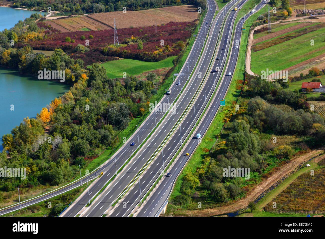 Autostrada antenna, Croazia Immagini Stock