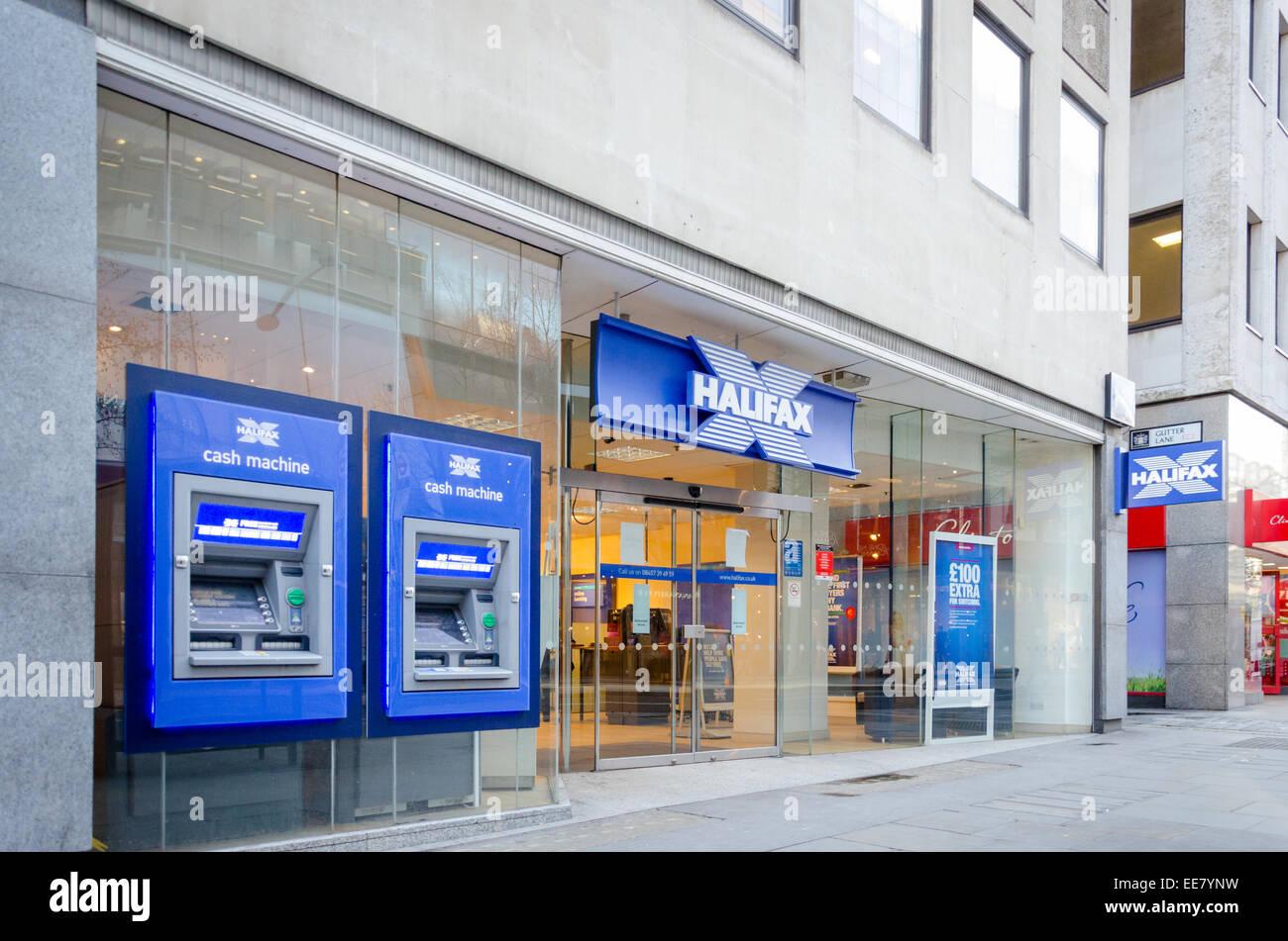 Ramo di Halifax Bank su Cheapside, Londra, Regno Unito. Immagini Stock