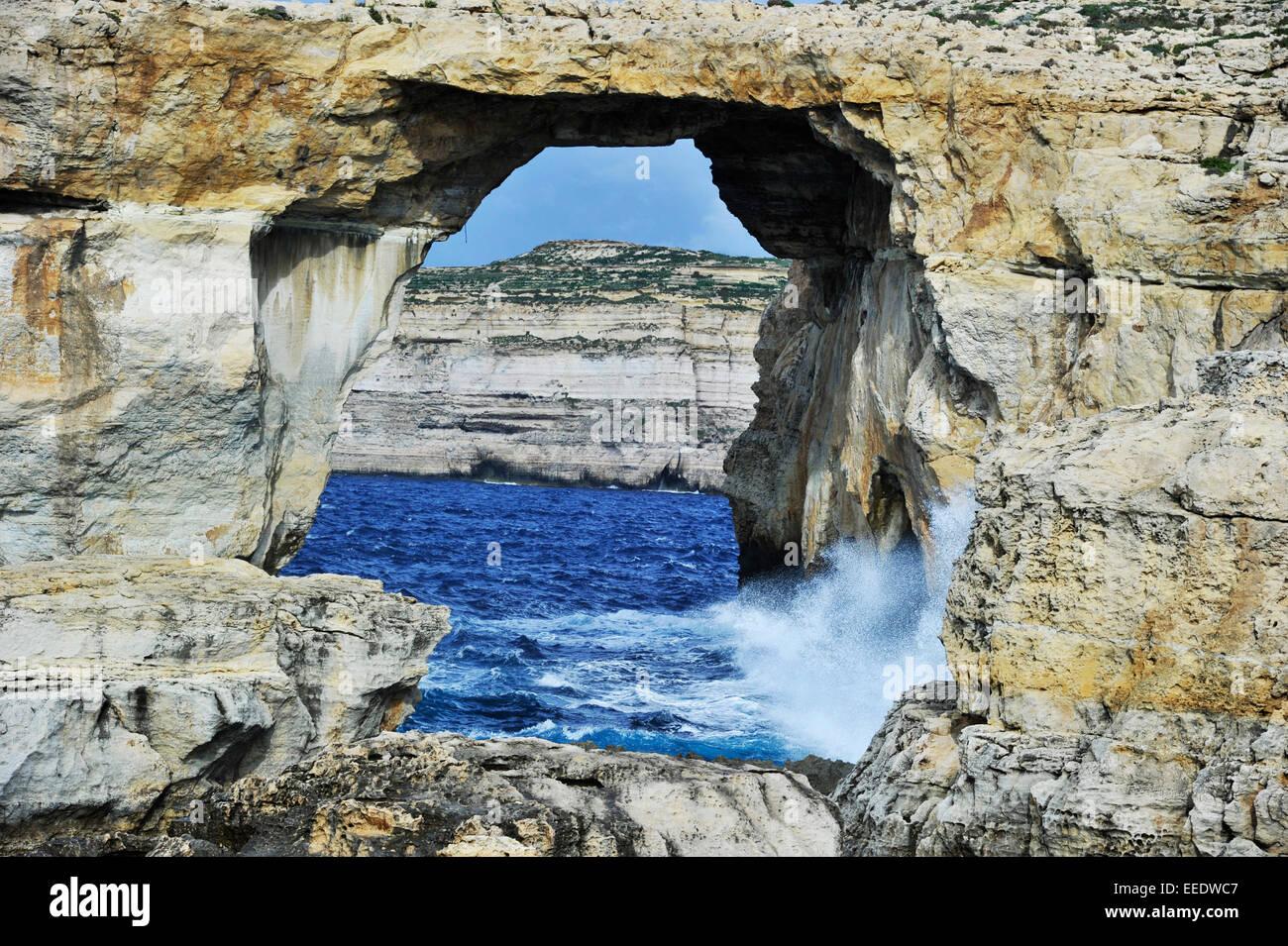 La piccola isola di Malta è una popolare meta di viaggio per i turisti a causa di 5.000 anni di storia, la Immagini Stock