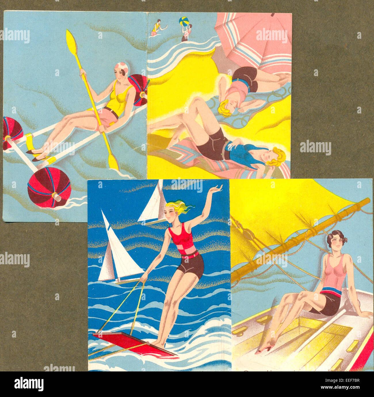 Coperchio per un Italiano calendario tascabile Foto Stock