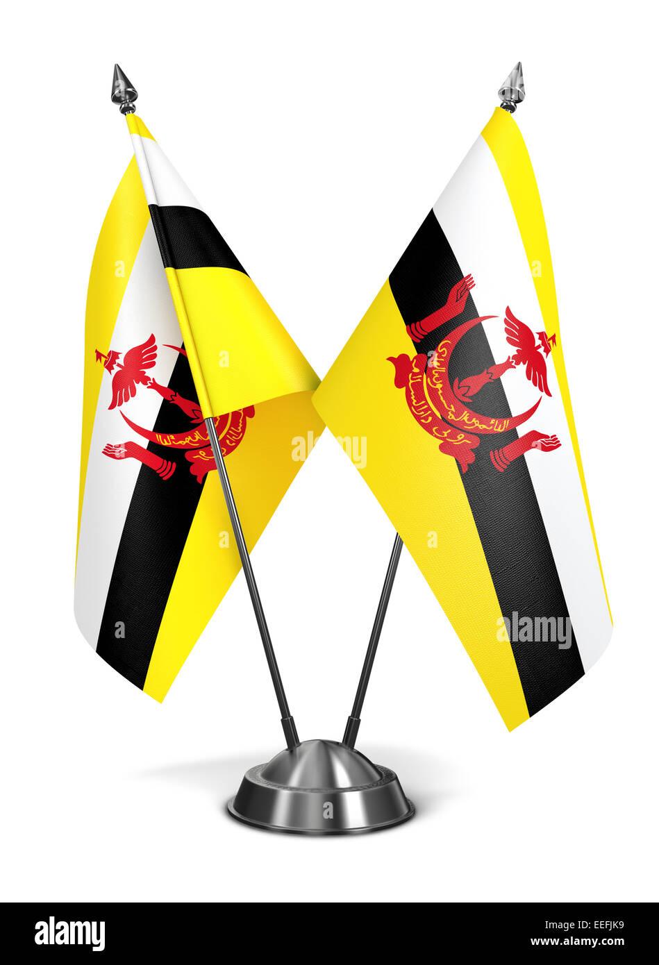 Brunei - Bandiere in miniatura. Immagini Stock