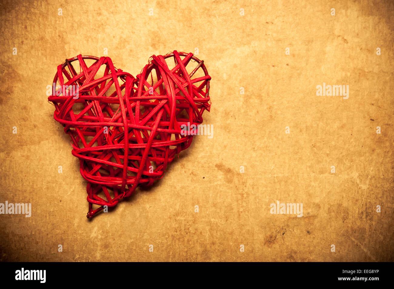 Valentino forma di cuore, il concetto di amore Immagini Stock