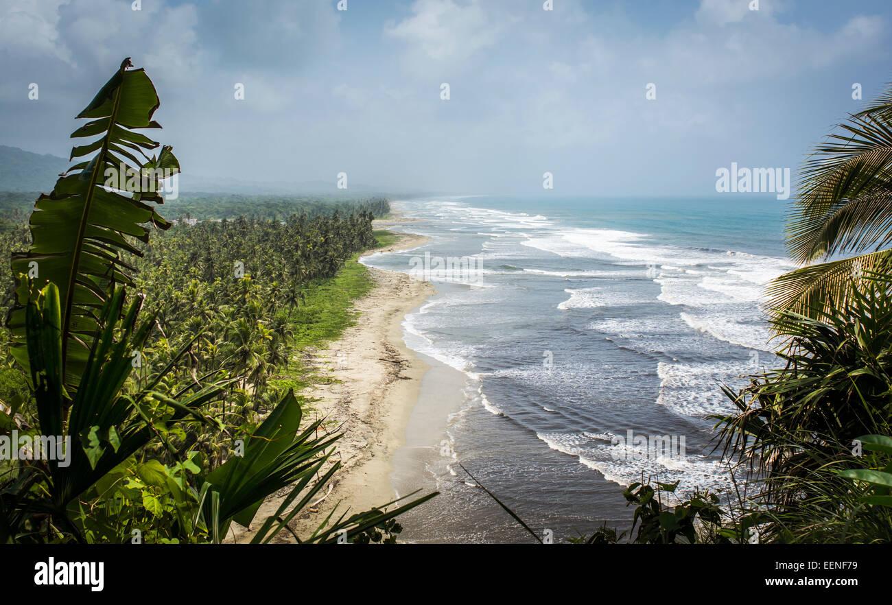 La spiaggia, Armila, Darien, Panama Immagini Stock