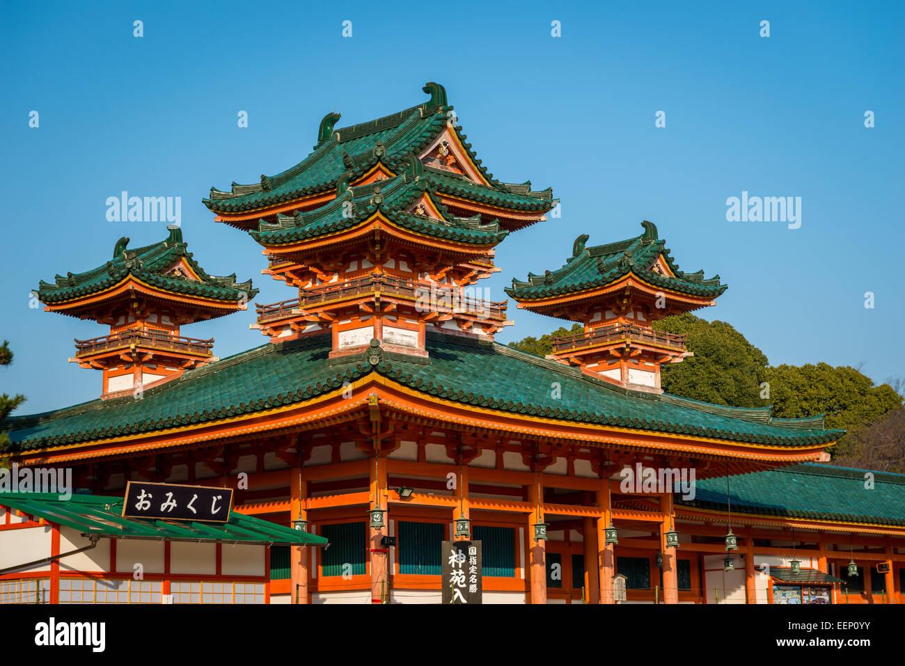 tradizionale architettura giapponese sul display al