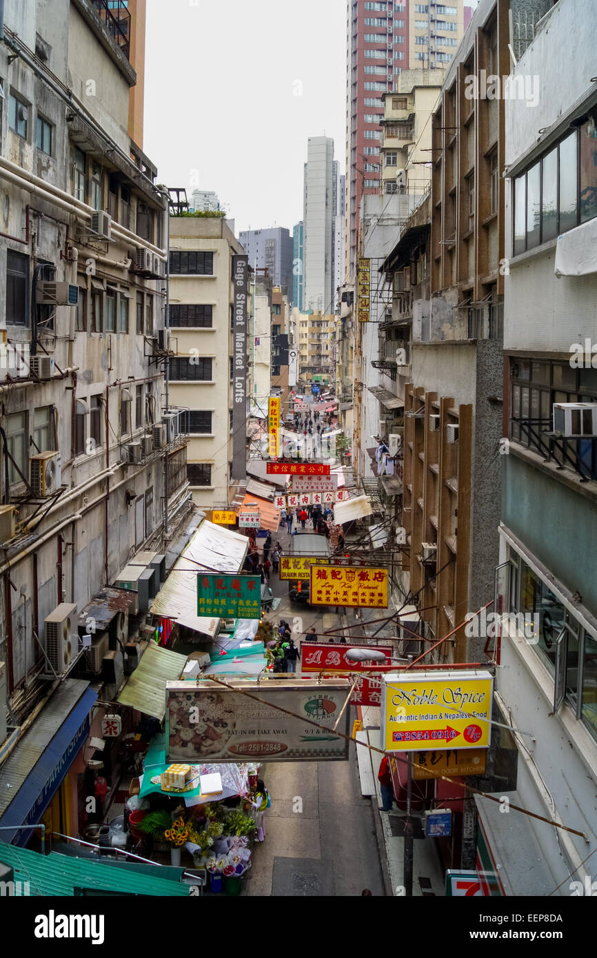 Gage St, Hong Kong Foto Stock