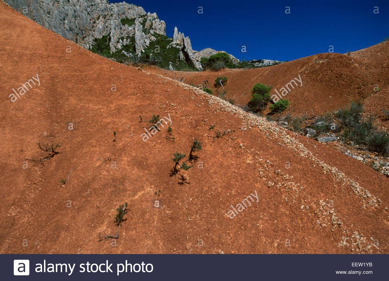 Montagne Sainte-Victoire, Bouches-du-Rhones, Francia, Leggenda della Francia Immagini Stock