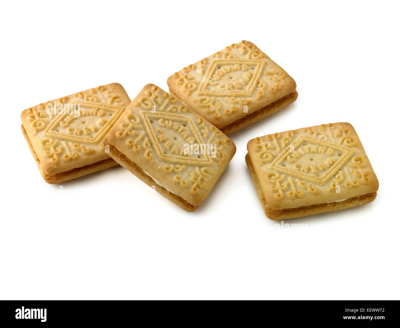 Crema pasticcera biscotto Foto Stock
