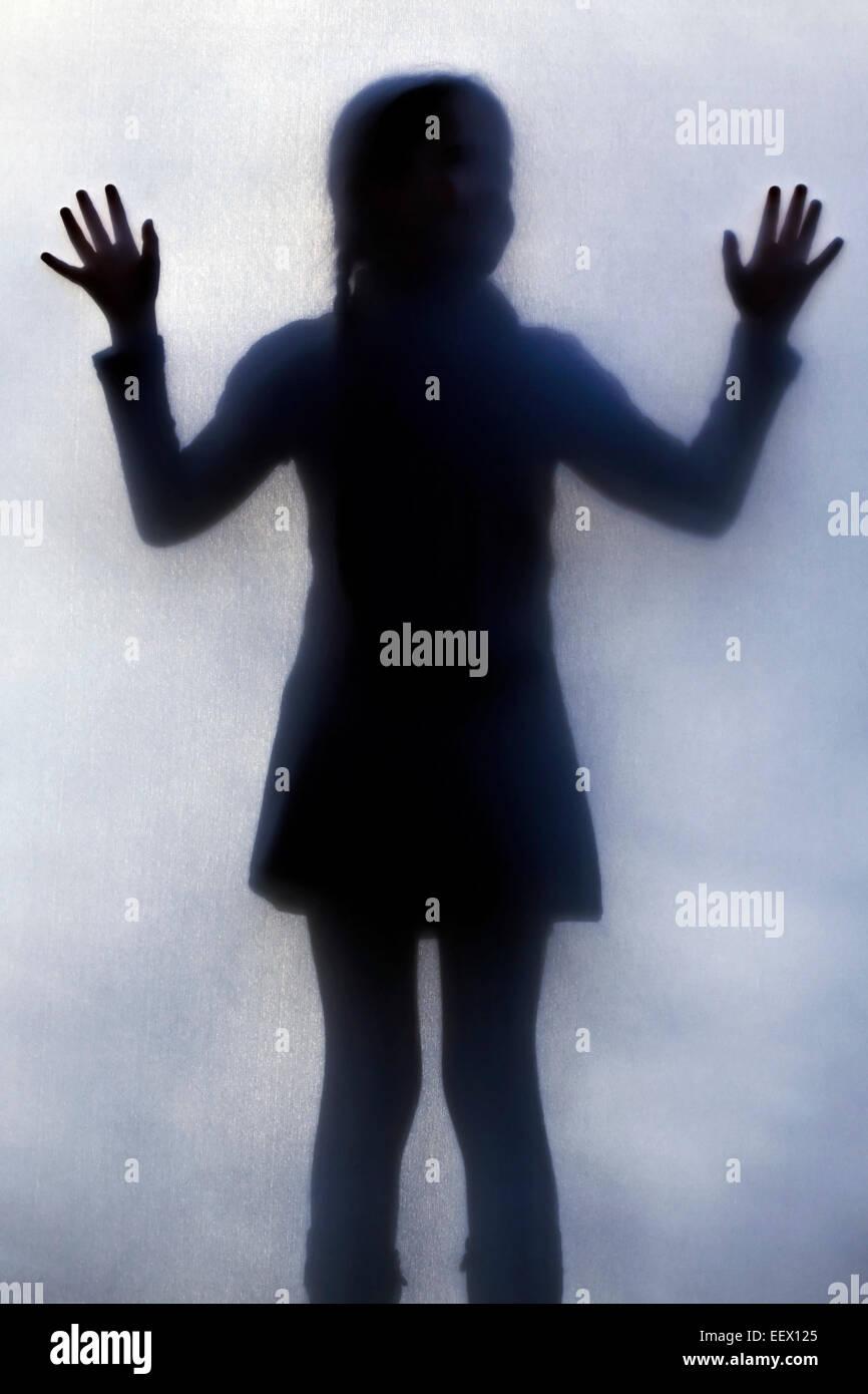 Silhoutte di una ragazza Immagini Stock