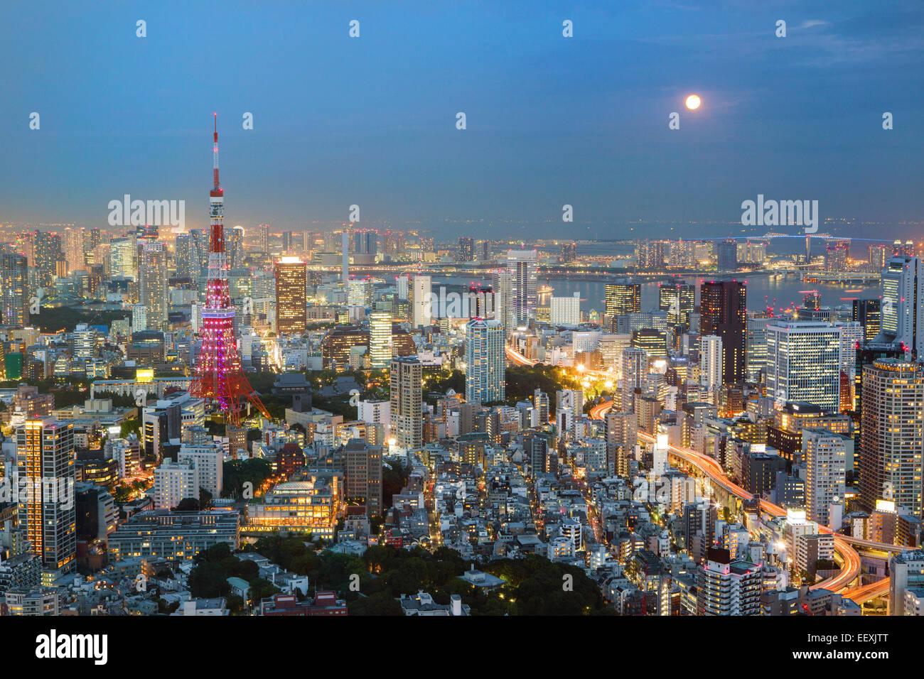 Tokyo di notte Immagini Stock