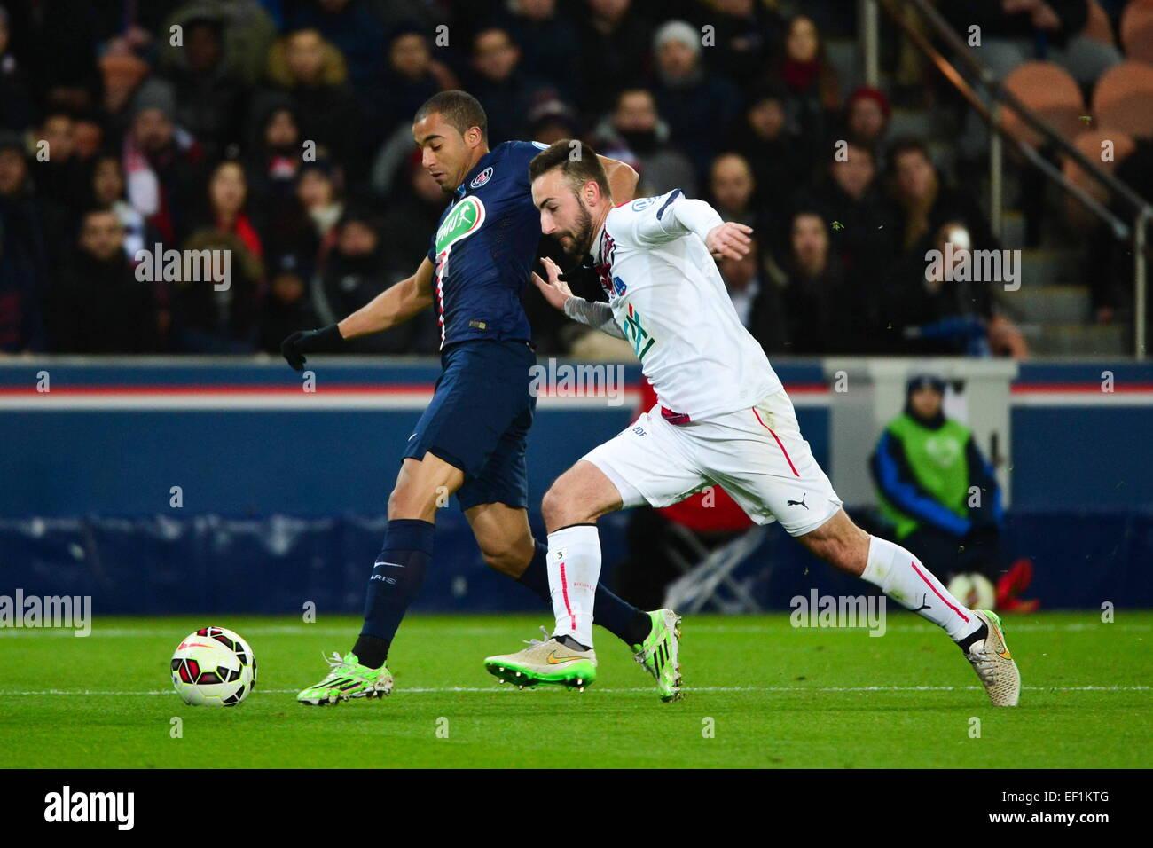 LUCAS/Diego contento - 21.01.2015 - Paris Saint Germain/Bordeaux - Coupe de France.Photo : Dave inverno/Icona Sport Immagini Stock