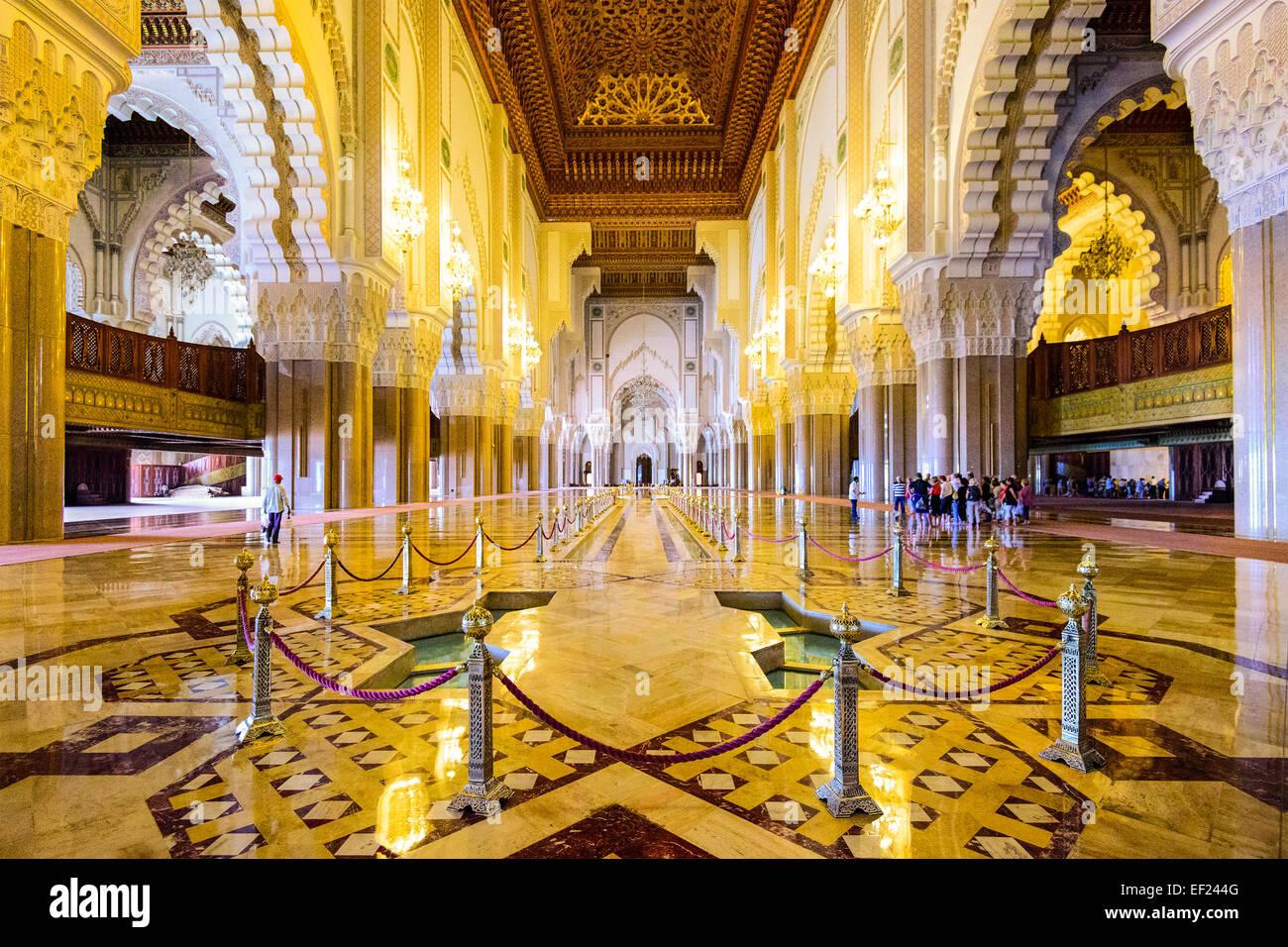Casablanca, Marocco all'interno della moschea di Hassan II. Immagini Stock