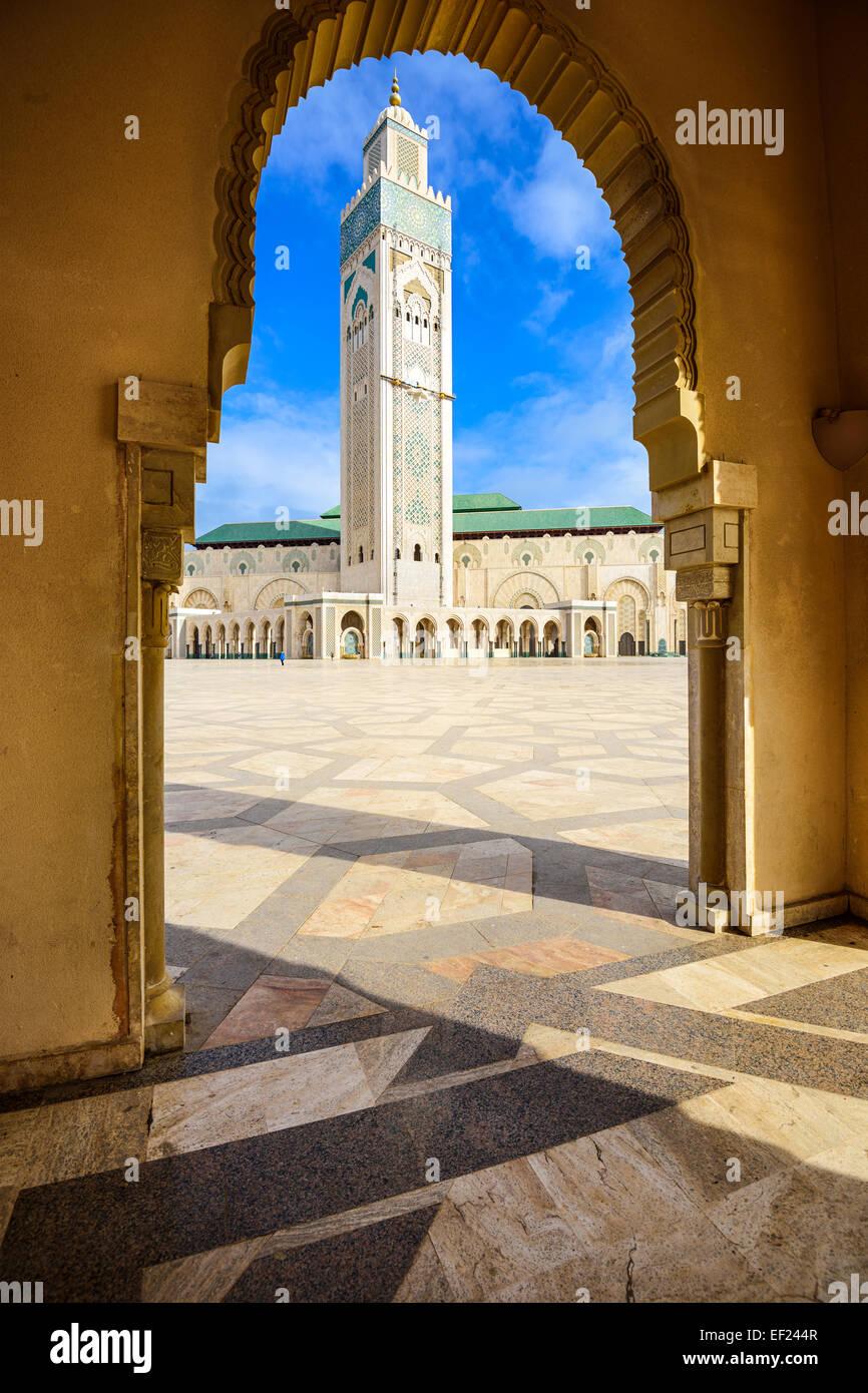 Moschea di Hassan II a Casablanca, in Marocco. Immagini Stock