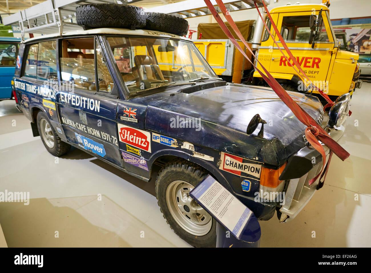 1971 Range Rover Darien Gap spedizione veicolo Heritage Motor Centre Gaydon Warwickshire, Regno Unito Immagini Stock