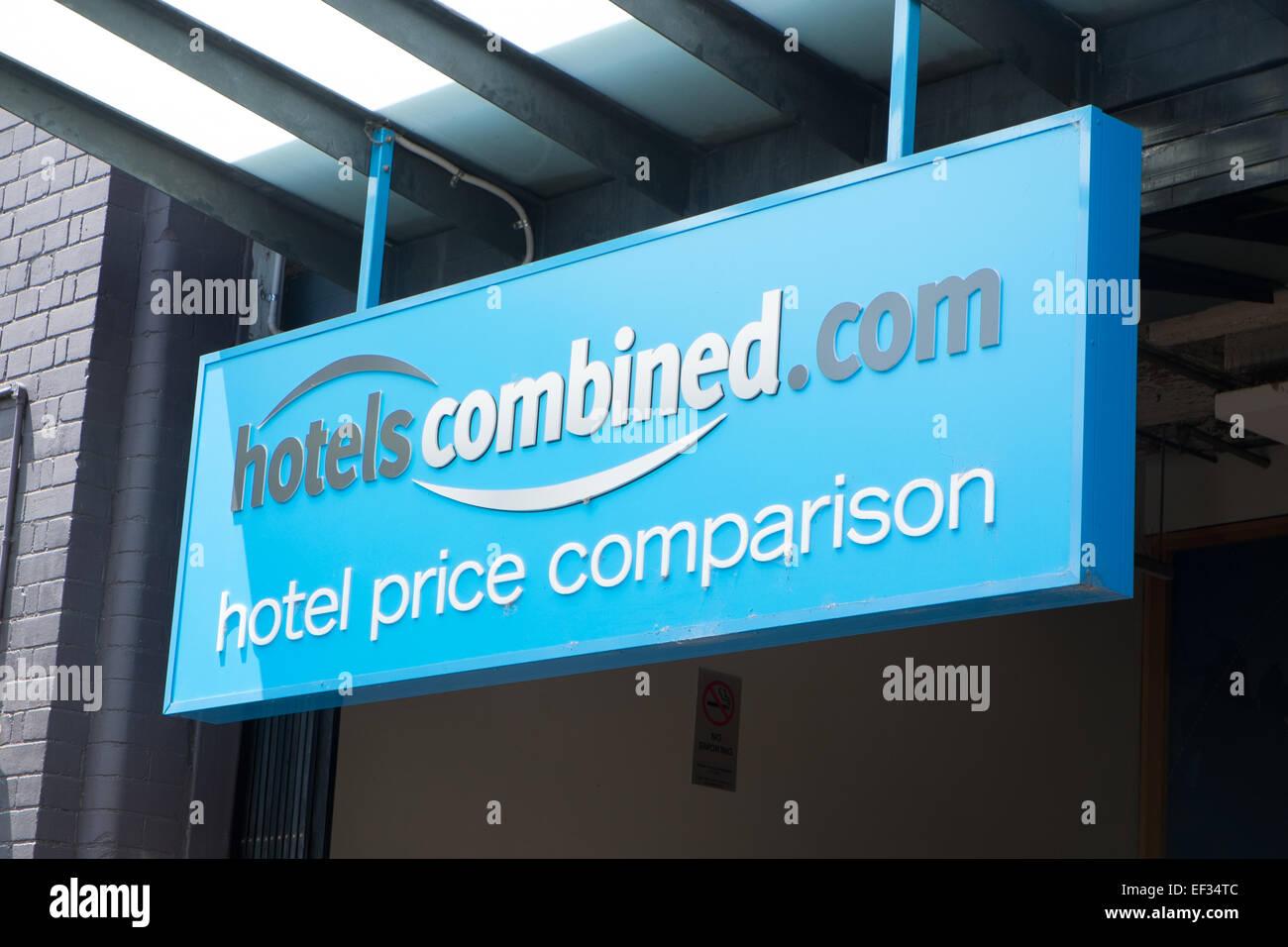 Gli uffici di sydney di alberghi confronto combinato website azienda,l'australia Immagini Stock