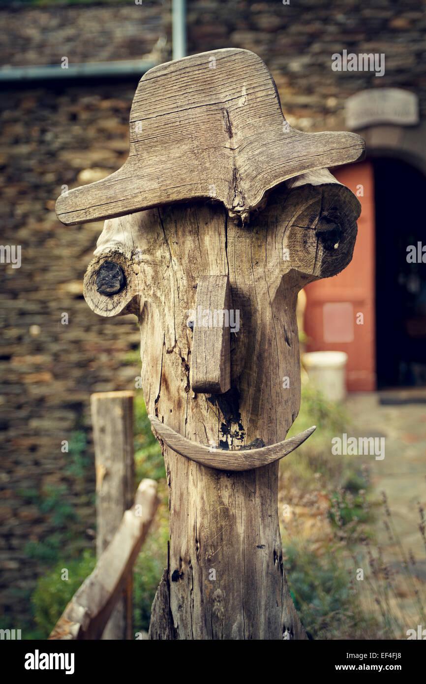 carattere di legno Immagini Stock